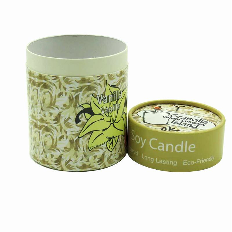 Green Cylinder Vanilla Candle P