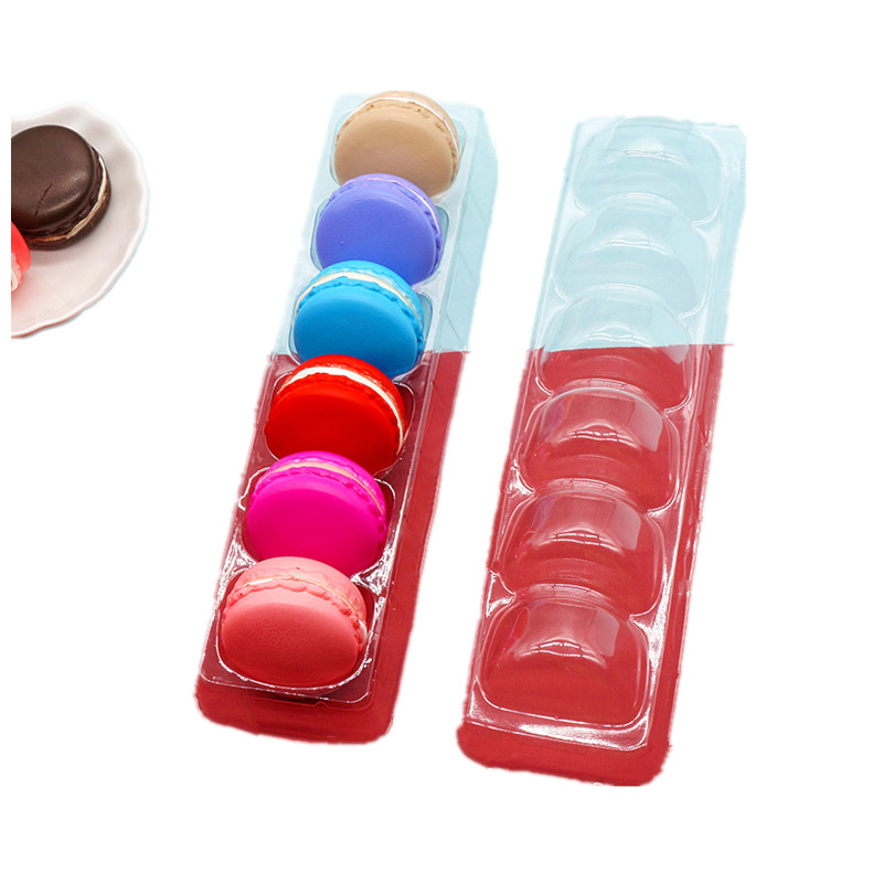 Transparent Macaron Boxes for 6