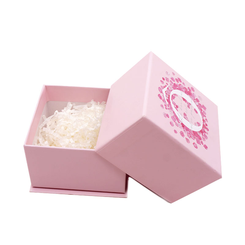 Square Pink Cosmetic Storage